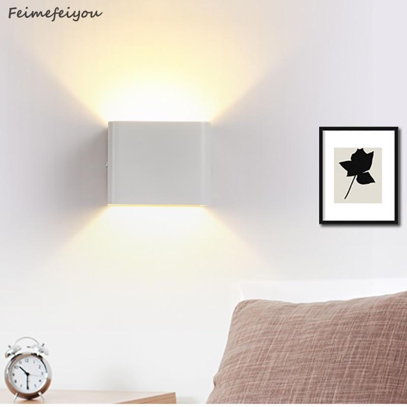 7W 10W Rectángulo cuadrado 2 estilos LED Luz Lámpara de pared Decoración LED Sótano Bombilla Porche Camino Paso Escalera Luz