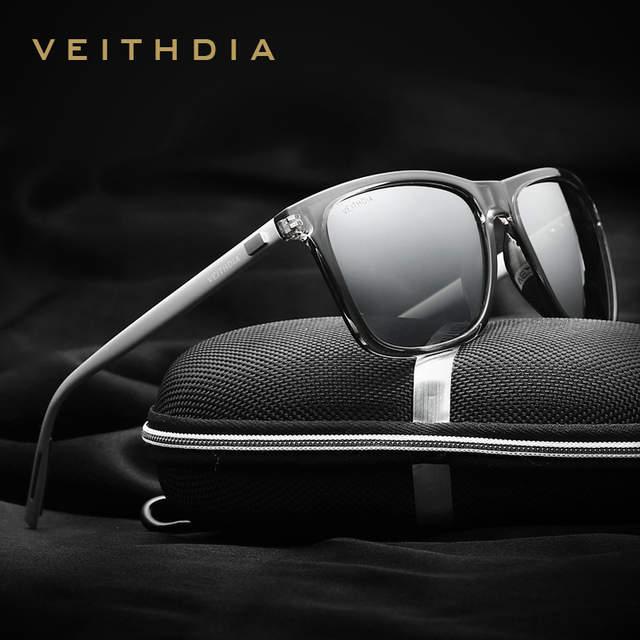 ddf6ef43504c5 VEITHDIA Marca Unisex Retro Alumínio + TR90 Óculos Acessórios Óculos de  Lente Polarizada Óculos De Sol