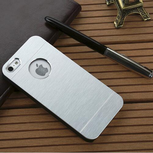 Frío Metal Plateando la Caja Plástica Para el iphone 5S SE 5G 4S Accesorios de L