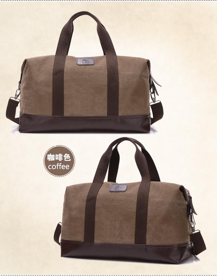 76eb1e789 Kilimall: Large Capacity Canvas Travel Bags Casual Men Hand Luggage ...