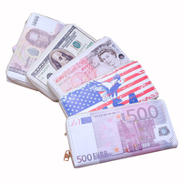 Women Wallet USA Flag Purse Fashion Classic Retro National Currency Wallet Holding Wallets Dollar GBP EUR Canadian Dollar THB 6