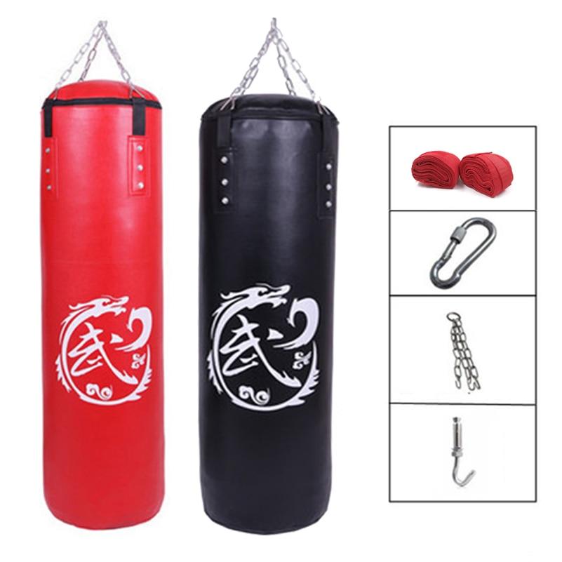 60cm 120cm Pu Leather Punching Bag Empty Kick Sandbag Fitness Mma Boxing Muay Thai Boxer