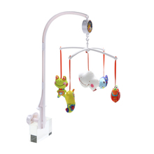 Baby Rattles Baby Crib Mobile Bed Bell Toy Holder Arm Bracket+5 Dolls +Wind-up Music Box FCI#