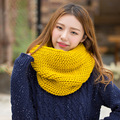 2016 New fashion Women's style Unisex Winter knitted Scarves Wool Collar Neck Warmer woman Crochet Ring Spain Loop Scarf