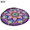 Fashion Round Ethnic Style Printed Hippie Throw Roundie Mandala Towel Yoga Picnic Mat Beach Bikini Cover Up Shawl Pashmina Aug18