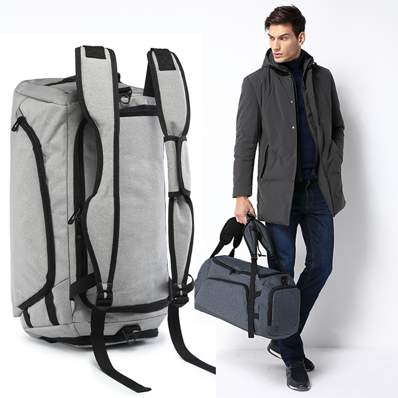 Large Capacity Travel Bags Men Backpack Hand Luggage Bag with Shoes Bag Multifunctional Polyester Travel Duffle Bags Male
