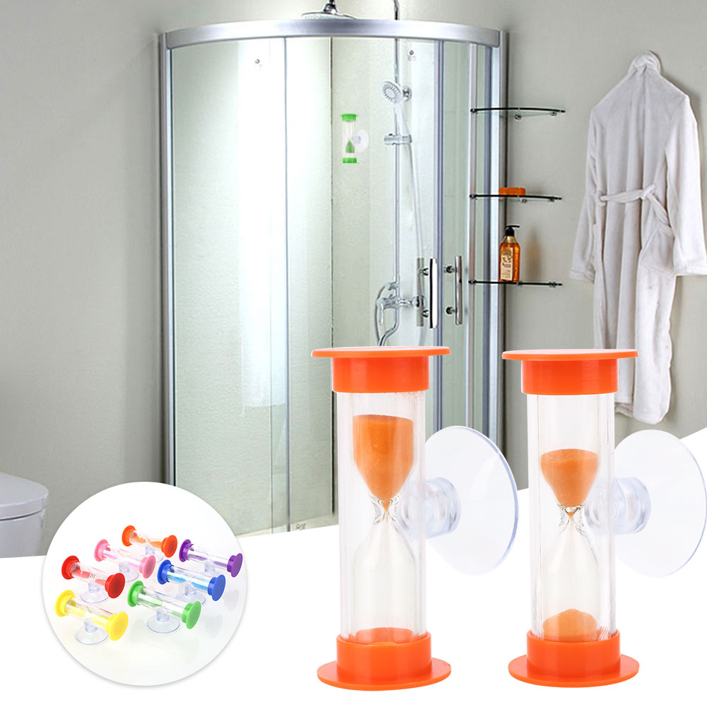 Bath Hardware Sets Competent Shower Timer Sand Clock Toy Abs Hourglass Gadget Accessories Home Colorful With Sucker Bathroom Bathing Tool Home Improvement