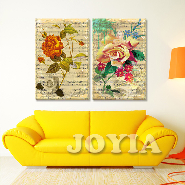 Classical Decoration Flower Music Note Paintings Spectrum Wall Art ...