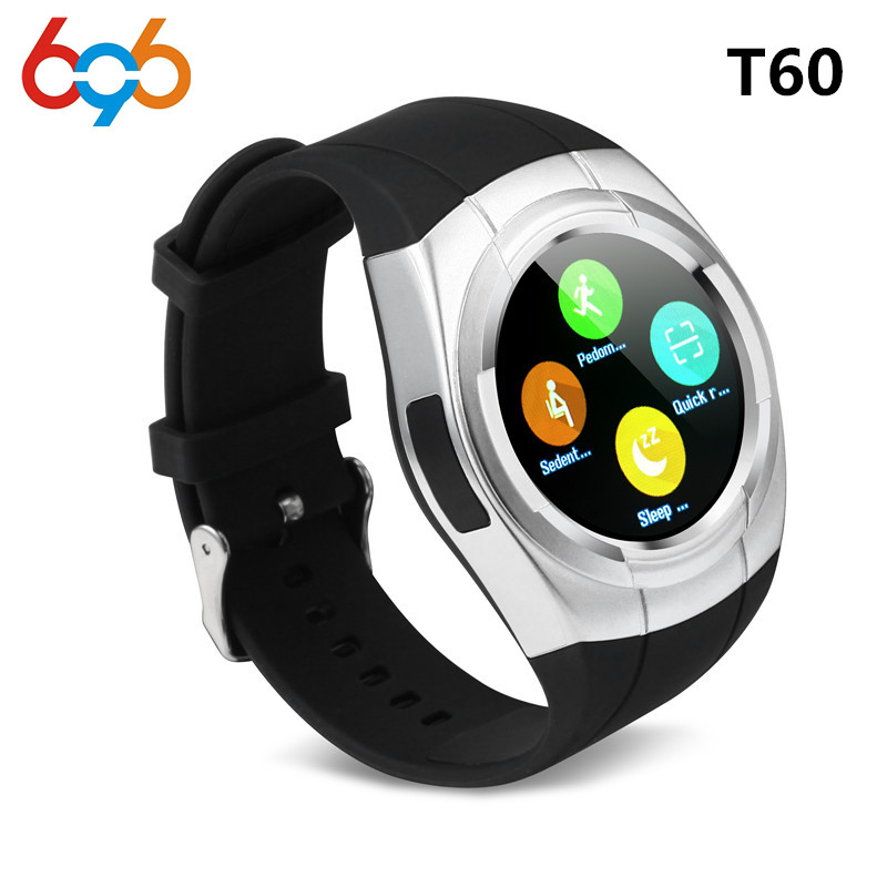 696 T60 Smart Watch Round Nano SIM TF Card With Whatsapp Facebook fitness Business Smartwatch For Android Vs gt08 Pk DZ09