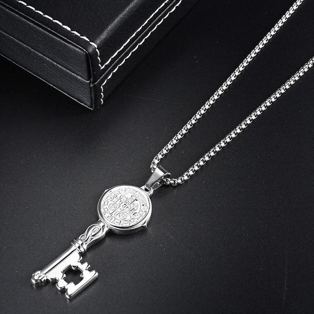 Key Shaped Pendant Necklace
