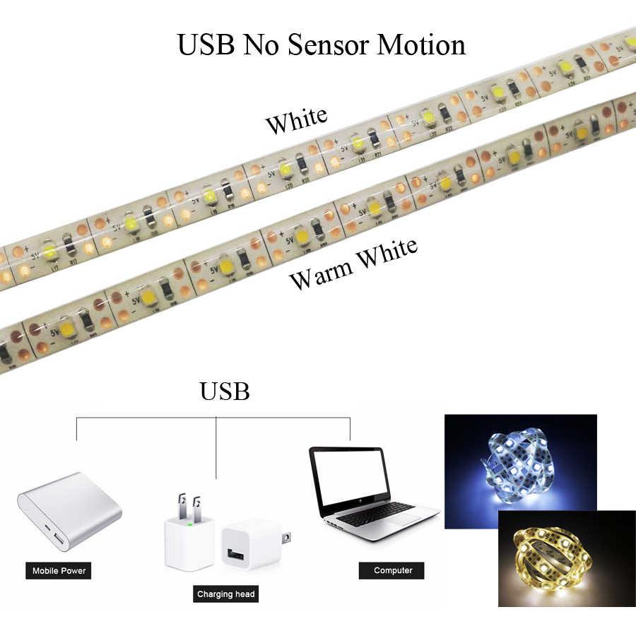 5 в 1 м 2 3 беспроводной датчик движения для закрытых помещений светодиодные ленты ночник под кровать лампа для кабинета лестницы батарея и питание от USB