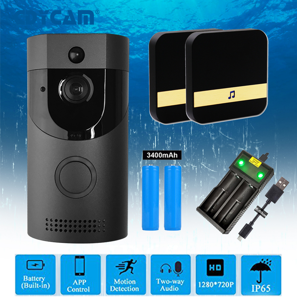 Cdycam Video Intercom Waterproof 720P HD Wireless WiFi Video Doorbell IR Camera Night Vision Two-Way Audio Battery Doorbell(China)