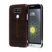 Pierre Cardin Back Cover Case For LG G5 Genuine Leather Retro Cell Phone Case Back Hard Case Fashion