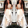 2015 Two Piece Evening Brides maid Tulle Dress Formal Pageant Prom Party Gown