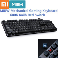 Xiaomi MIIIW 600K Mechanical Gaming Keyboard Backlit 104 Key Kailh Red Switch 6 Mode Backlight USB Wired Keyboard for Gamer
