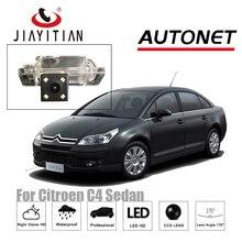 JIAYITIAN Câmera de visão traseira Câmera Reversa Para Citroen C4 sedan 2008 ~ 2017 CCD câmera de Visão Noturna placa de licença de backup câmera