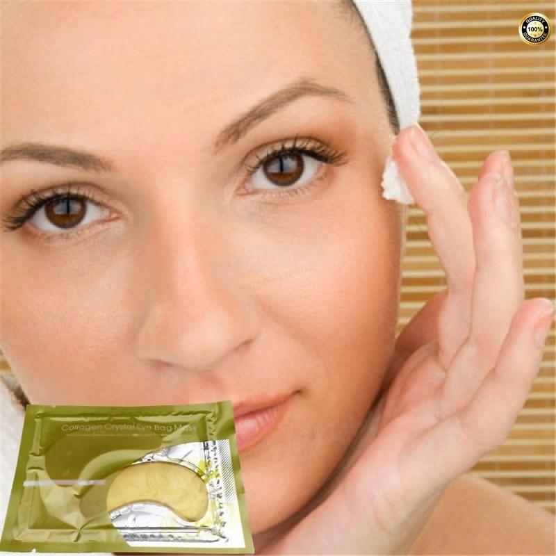 1pair=2pcs Golden Eye Mask Deck Out Women Crystal Eyelid Patch / Crystal Collagen Eye Mask Gold Mask Dark Circle Anti-Aging