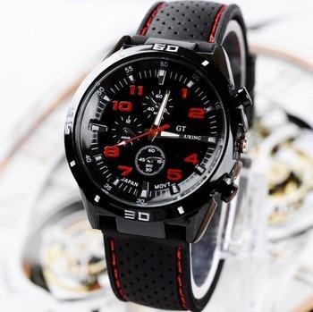 Racing Men Sports Watches Luxury Brand Grand Touring GT Watch Silicone Mens Army Quartz Military Wristwatch Women Fashion цена 2017
