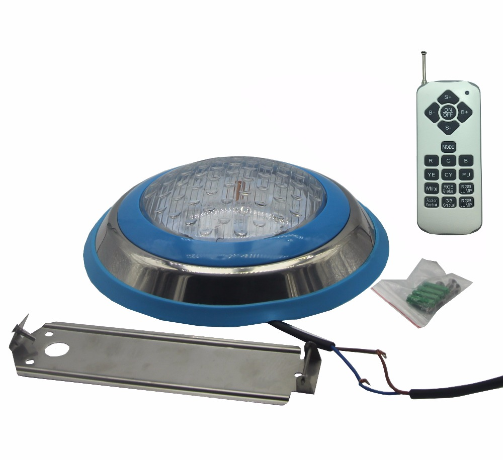 LED Light Bulbs Pool IP68 Waterproof Underwater Lights 12V AC/DC Fountain Lighting RGB With Remote Control 18W 36W 45W 54W