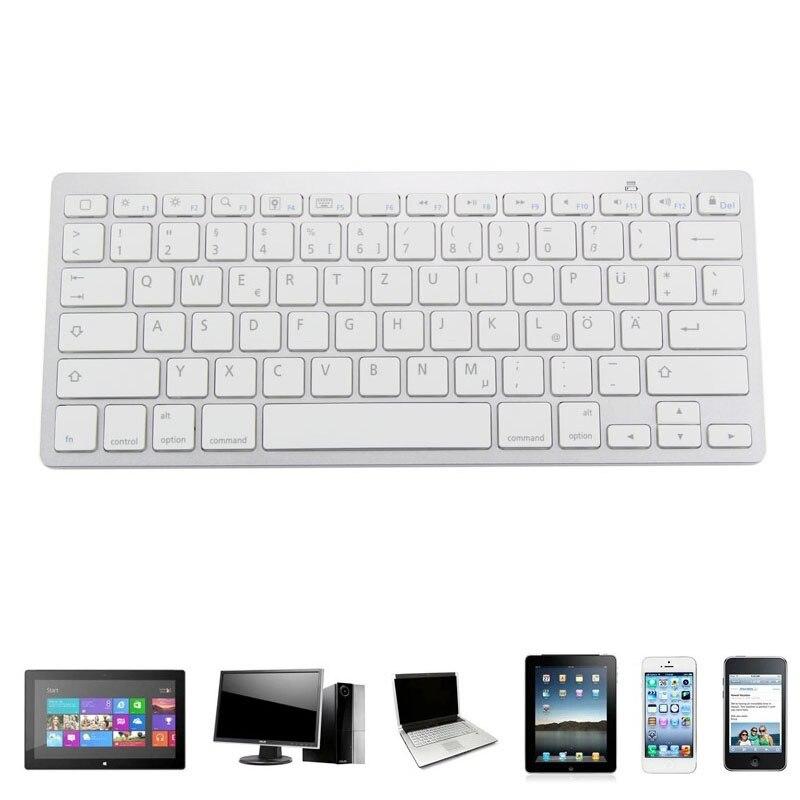 Nueva Delgado estándar alemán teclado 78 Keys Bluetooth inalámbrico de teclado multimedia para PC portátil y Tablets em88