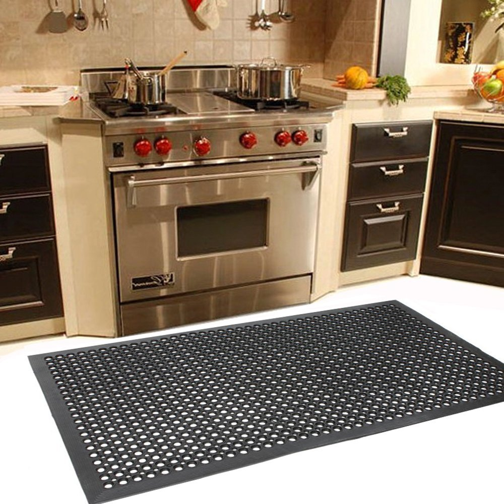 Outdoor Wet Bar: Anti Slip Mat Anti Fatigue Heavy Duty Rubber Floor Mats