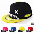 fashion runningman chapeau women shark cartoon baseball cap men women tooth brim straight snapback female leisure sun bone