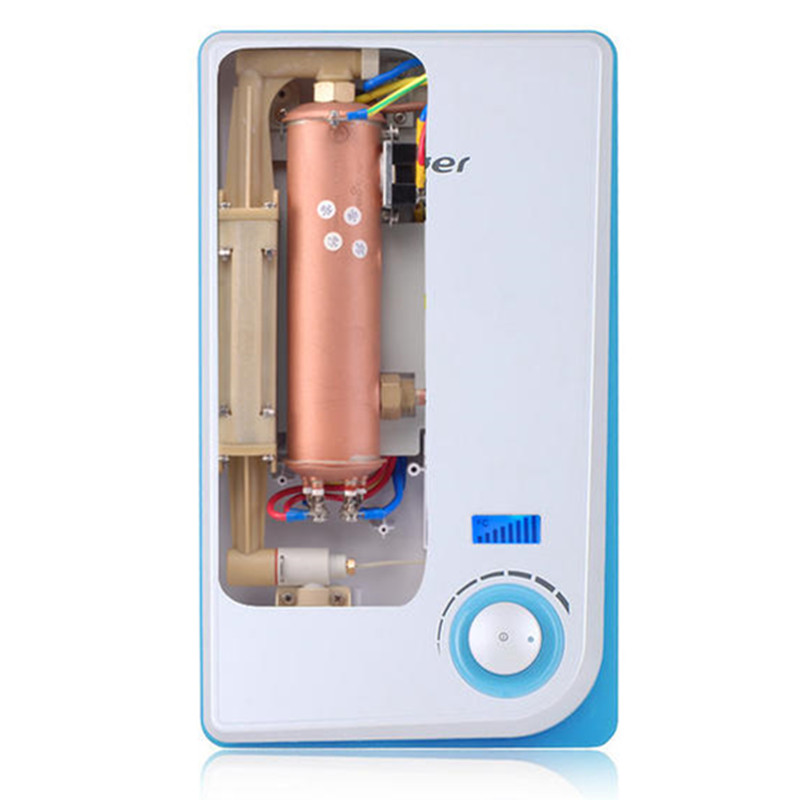 Instantaneous Hot Bathroom Electric Tankless Shower Water Heater Led Digital Display Iphone Style Germany Technology