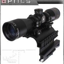 Векторная Оптика Тактический AK-47 4x32 мм длинный глаз рельеф пистолет прицел с QD боковой прицел крепление комбо лупа прицел