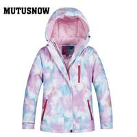 MUTUSNOW Kids Ski Jacket Winter Children Windproof Waterproof Super Warm Ski Clothes Girls Snow Coat 30 Winter Snowboard Jacket