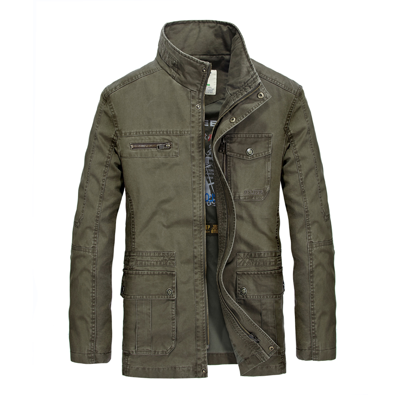 AFS JEEP jacket men brand clothing top quality army military jacket Spring Autumn casual men jacket stand collar cargo jacket