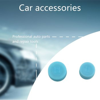 New 2PCS/SET Car Air Conditioner Refrigerant Dust Cover Valve Core Caps High and Low Side Port Cap Auto Caps Accessories image