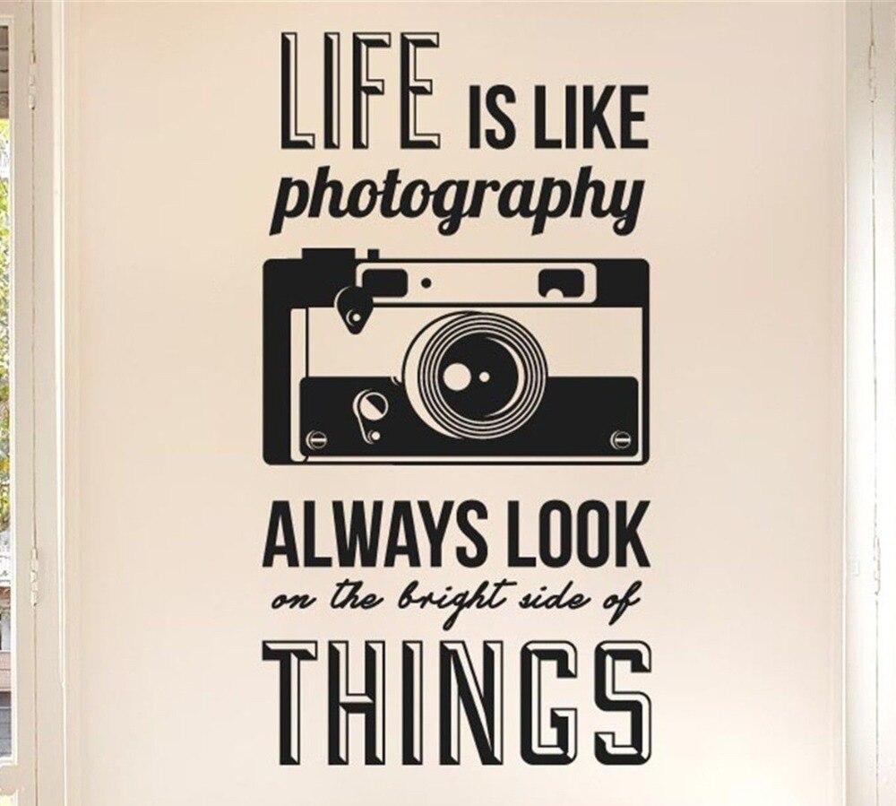 Leben ist wie fotografie Zitate Kamera Wandaufkleber Kunst Vinyl ...