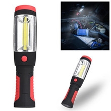 2in1 COB LED Cycling Bicycle Front Head Flashight Camping Inspection Light Lamp Hand Torch Magnetic Bike Accessories