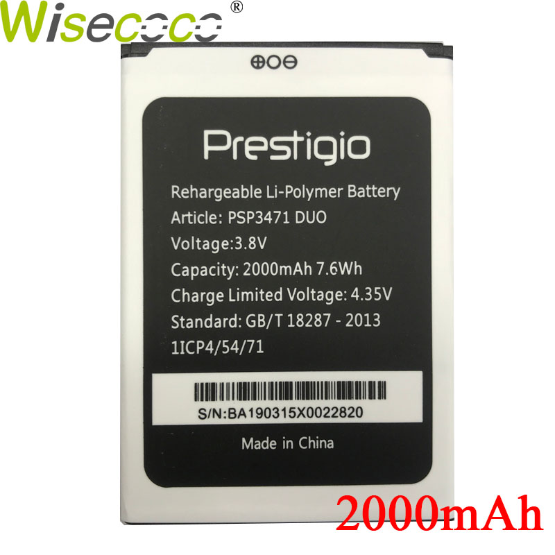 Wisecoco Battery Phone-Battery-Replacement Prestigio PSP3471 for Wize Q3 DUO