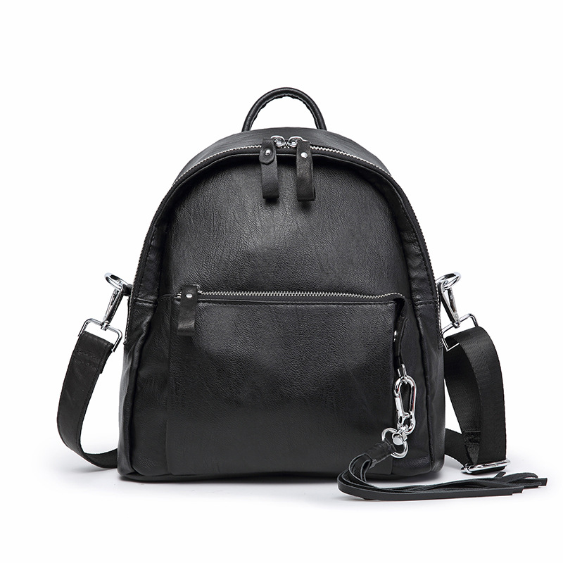 Backpack Women Leather Backpack Bookbags Cute Backpack Anti Theft Backpacks Mochila Feminina Sheep Leather Solid Softback