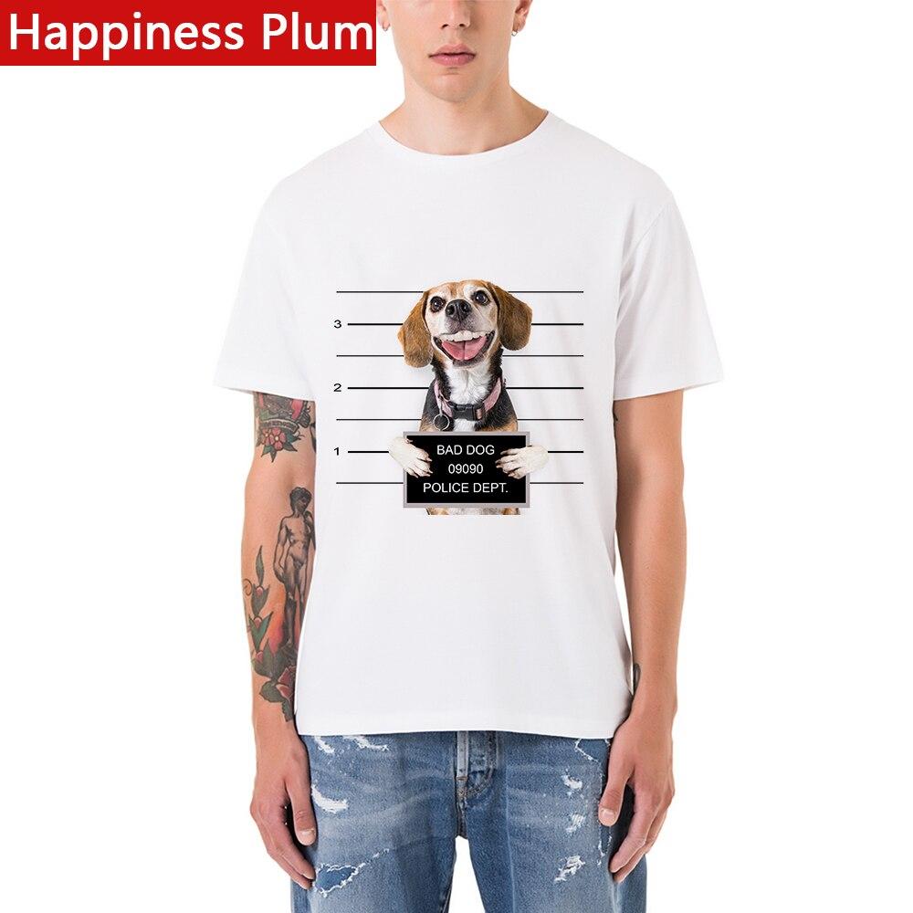 Glück plum funny dog t shirts 3d t-shirt marke clothing print t-shirt...