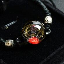 BOEYCJR Вселенная планеты стеклянные браслеты из бисера и браслеты галактика модные ювелирные изделия галактика солнечная система браслет для женщин Рождество