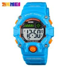 SKMEI Fashion Children sports Electronic watches 50 Meters Waterproof Plastic PU Shell PU Wristband Student Digital Watch 1484 все цены