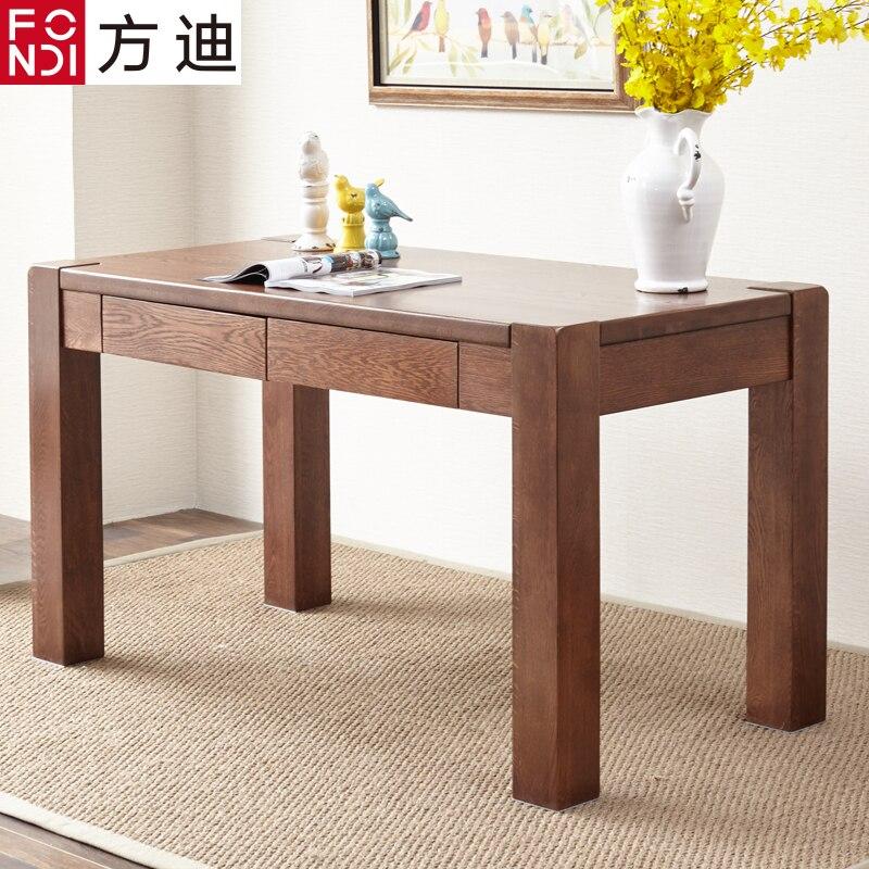 Pure Solid Wood Oak Desk Green Thick Legs Desktop Computer Study Minimalist Furniture  Table In Computer Desks From Furniture On Aliexpress.com | Alibaba ...