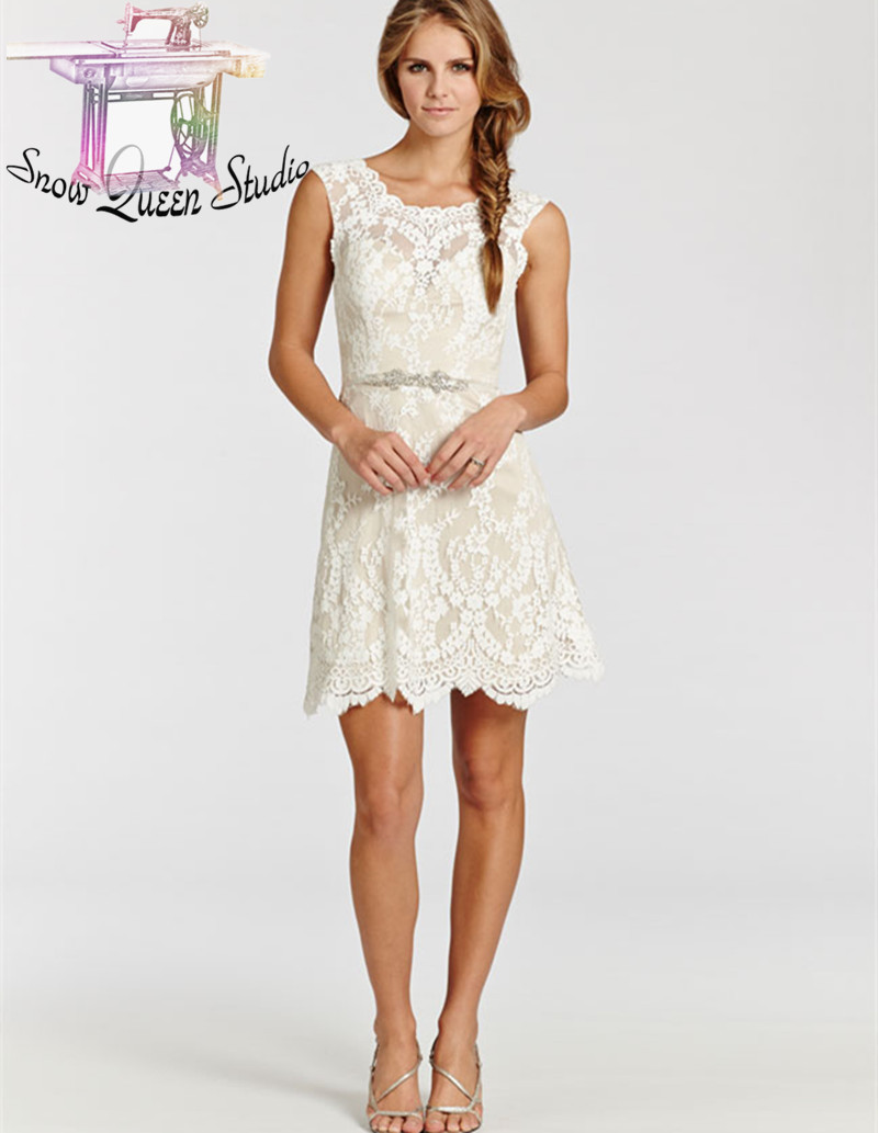 White Lace Short Wedding Dresses Country Boots | Dress images