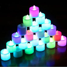 BRIDAY 1pc LED Candle Light Battery Powered Lamp Simulation Color Flame Flashing Home Wedding Birthday Party Decoration@2(China)