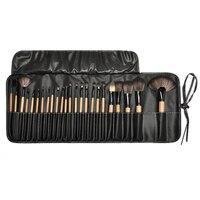 24 Pcs Portable Professional Makeup Brushes Tool Makeup Brush Set Wood Eye Shadow Brush Nose Foundation