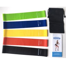 5Pcs/Set Yoga Resistance Bands Arm Thigh Strength Training Fitness Belt Exerciser Force Strap