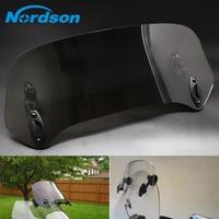 Nordson Motorcycle Risen Adjustable Wind Screen Windshield Spoiler Air Deflector For Honda BMW R1200GS Yamaha Kawasaki Suzuki