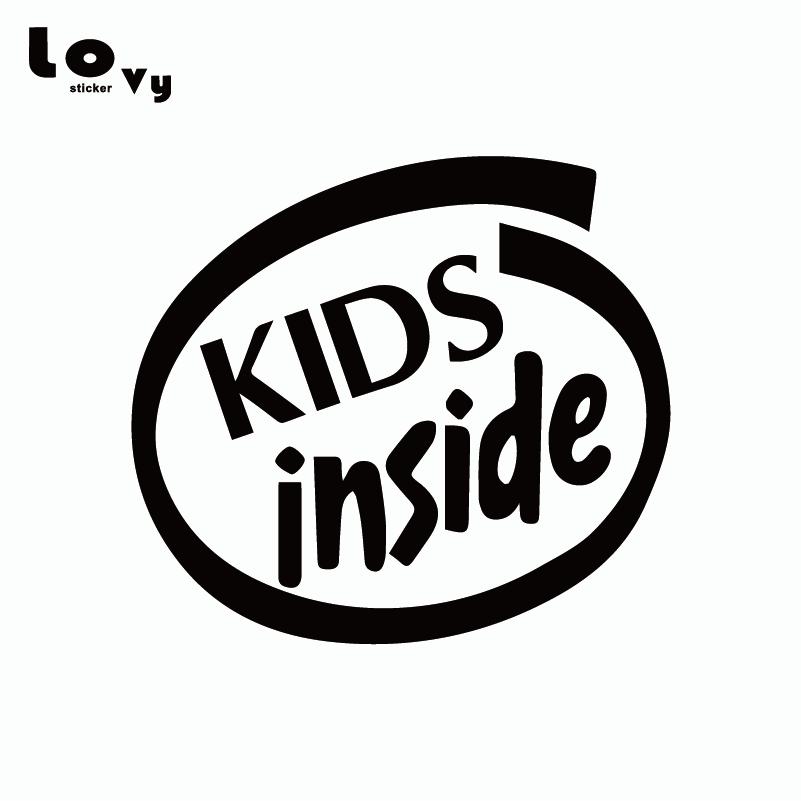 Kids Inside Baby On Board Vinyl Car Sticker Funny Warning Sign Car Decal For Car Window Door Body Decoration  CR0693