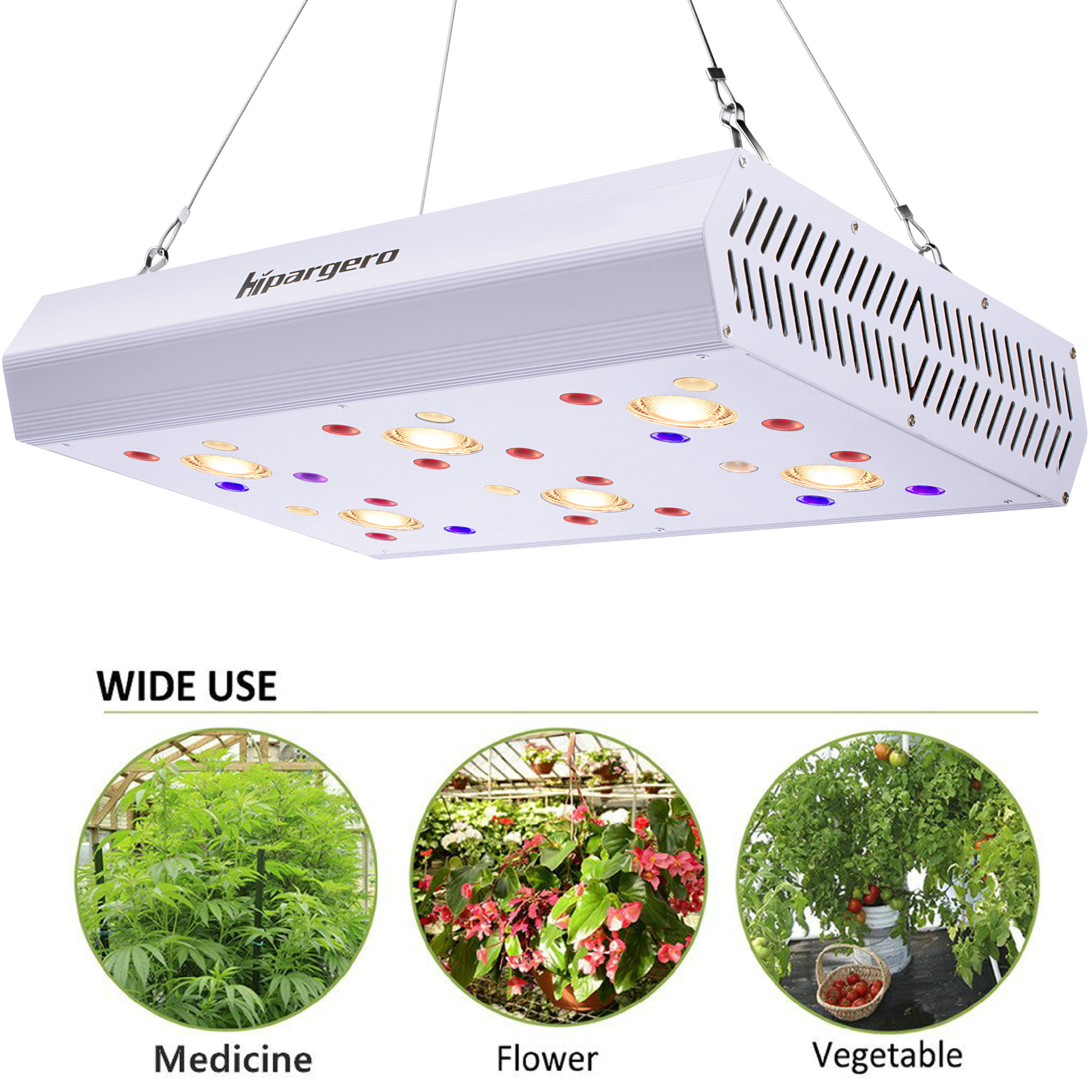 1200W LED Grow Light Full Spectrum Grow Lamp 3000K COBs 3W Chips UV IR Daisy Chain Greenhouse Hydroponics Indoor Plant Lighting