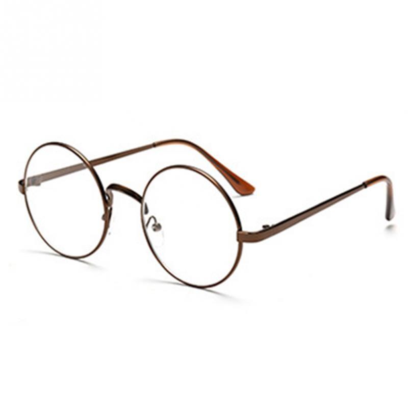 Retro Oversized Korean Round Glasses Frame Clear Lens Women Men ...