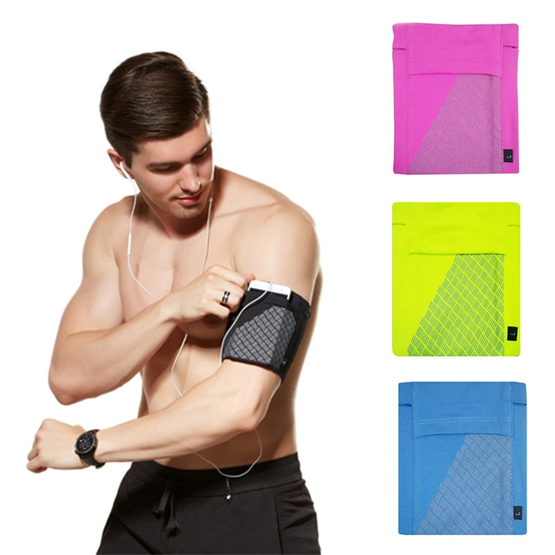 Elasticity Breathable Arm Bag Running Mobile Phone Bag Easy To Carry Waterproof Bags Silicone Anti-slip Sports Gym Training Arm