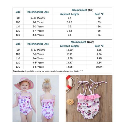 Bikini Toddler Kids Baby Girls Tankini Bikini Swimwear Swimsuit Bathing Suit Beachwear