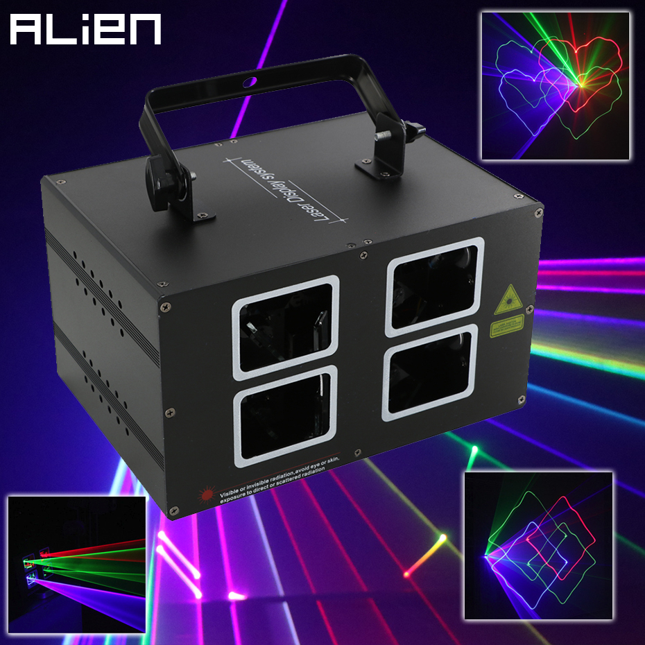 ALIEN RGB Beam Stage Laser Projector Scanner Lighting Effect DMX Professional DJ Disco Club Bar Party Holiday Wedding Show Light